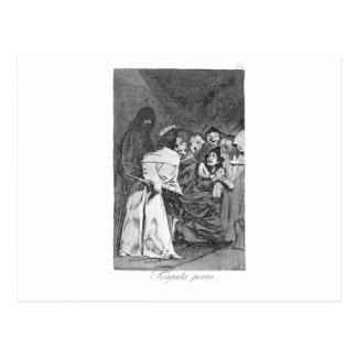 Carte Postale Avalez-le, chien par Francisco Goya