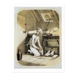 Carte Postale Avarice dans la cuisine, d'une série de copies De