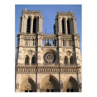 Carte postale avec la cathédrale de Notre Dame de
