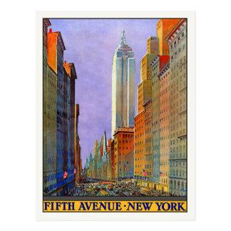 Carte postale avec la copie vintage d'affiche de