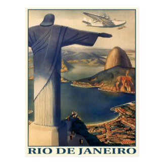 Carte postale avec la copie vintage de Rio de