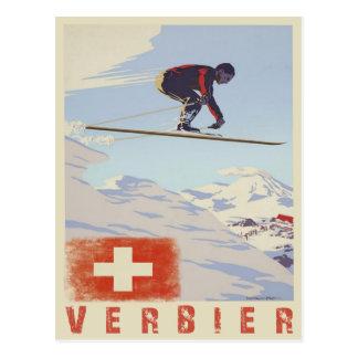 Cartes postales vintages du ski