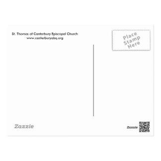 Carte postale avec la croix ensoleillée