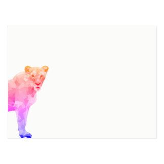 Carte postale avec la lionne