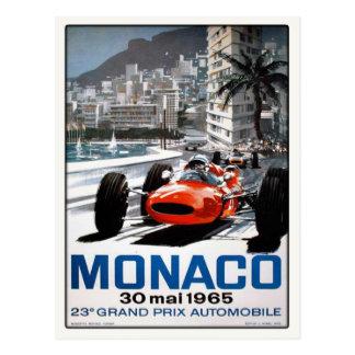 Carte postale avec l'affiche du Monaco Grand prix