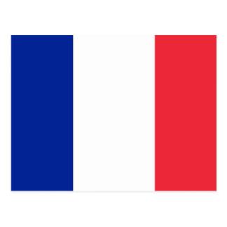 Carte postale avec le drapeau de la France