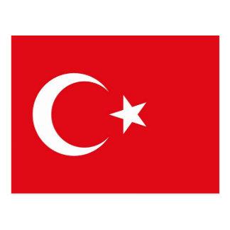 Carte postale avec le drapeau de la Turquie