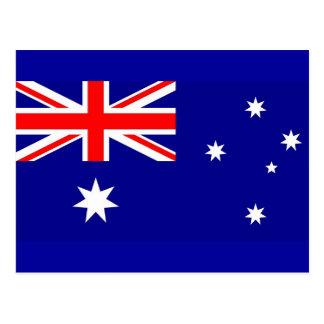 Carte postale avec le drapeau de l'Australie