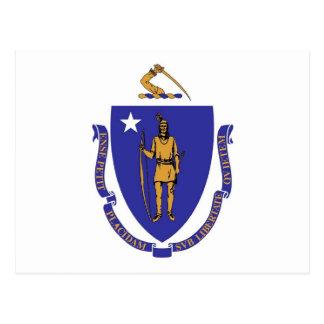 Carte postale avec le drapeau de l'état du