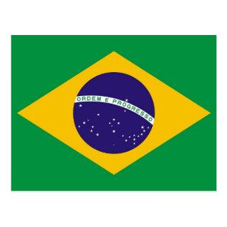 Carte postale avec le drapeau du Brésil