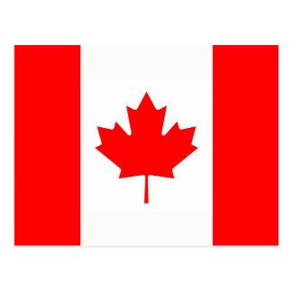 Carte postale avec le drapeau du Canada