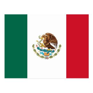 Carte postale avec le drapeau du Mexique