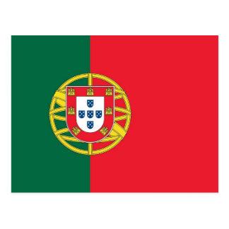 Carte postale avec le drapeau du Portugal