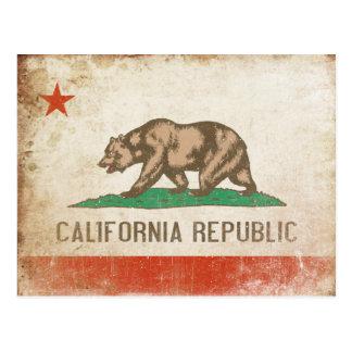 Carte postale avec le drapeau frais de la