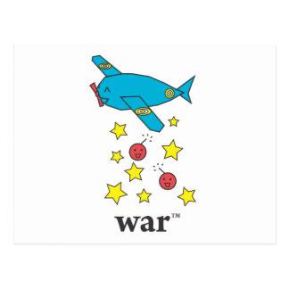Carte Postale Avion de bombardier bleu