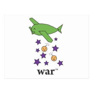 Carte Postale Avion vert de bombardier de la guerre (TM)