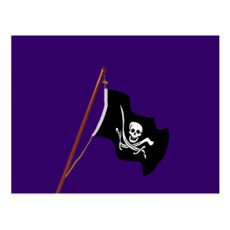 Carte Postale Aviron de drapeau de pirate et épées croisées