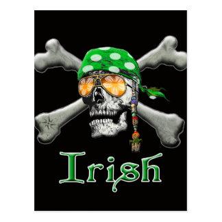Carte Postale Aviron et os irlandais de pirate