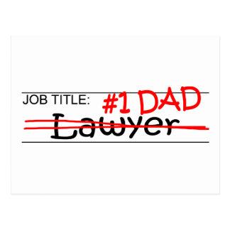 Carte Postale Avocat de papa du travail