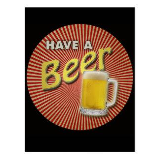 Carte Postale Ayez une bière !