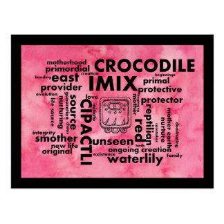 Carte postale aztèque maya du nuage Imix Cipactli
