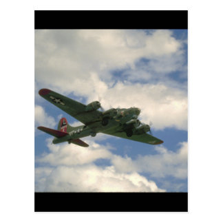 Carte Postale B17, vue de ventre. (avion ; avions de b17_WWII