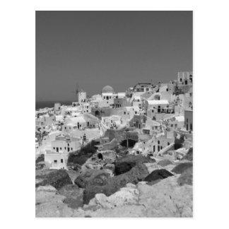 Carte Postale B&W Santorini 10