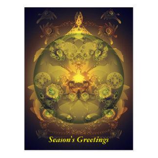 Carte Postale Babiole de Noël de fractale