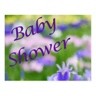 Carte Postale Baby shower pourpre