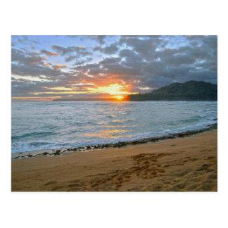 Carte Postale Baie de Wainiha, Kauai, Hawaï, lever de soleil