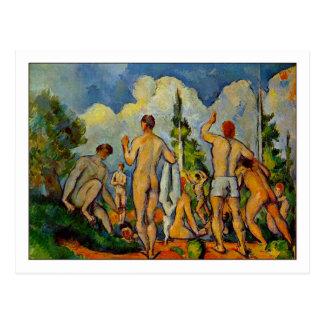 Carte Postale Baigneurs par Paul Cezanne