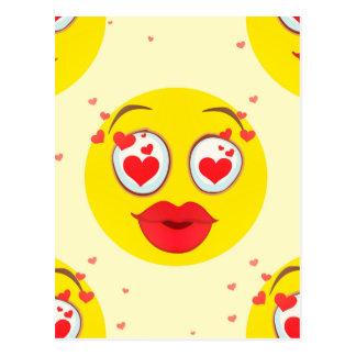 Carte Postale Baiser Emoji de Valentine