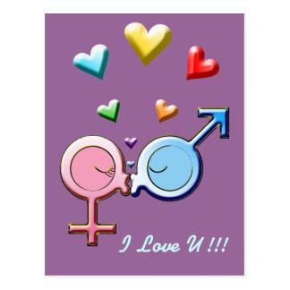 Carte Postale Baisers de bonbon à genre