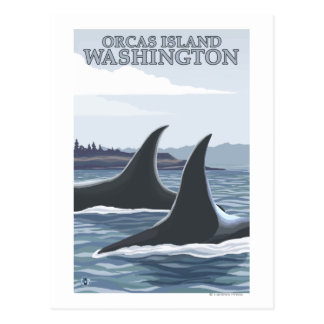 Carte Postale Baleines #1 - orques île, Washington d'orque