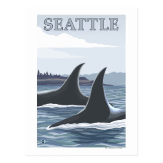Carte Postale Baleines #1 - Seattle, Washington d'orque