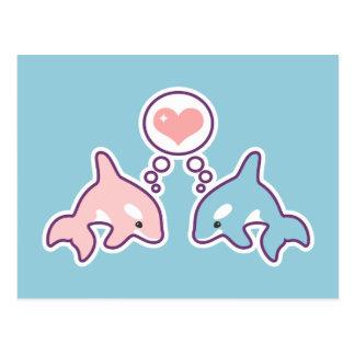 Carte Postale Baleines mignonnes d'orque