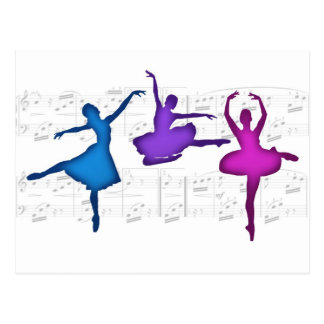Carte Postale Ballerines de jour de ballet