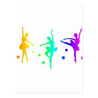 Carte Postale Ballet d'arc-en-ciel