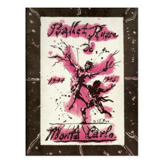 Carte Postale Ballet Russe De Monte Carlo 1944-45