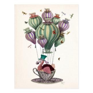 Carte Postale Ballon de dronte avec des libellules