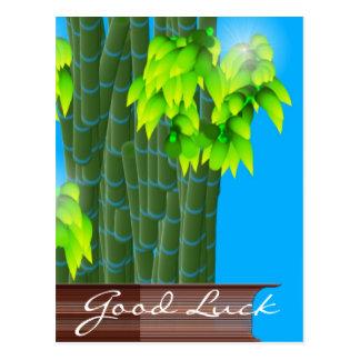 Carte Postale Bambou chanceux, bonne chance