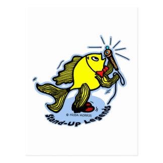Carte Postale Bande dessinée comique drôle de poissons comiques