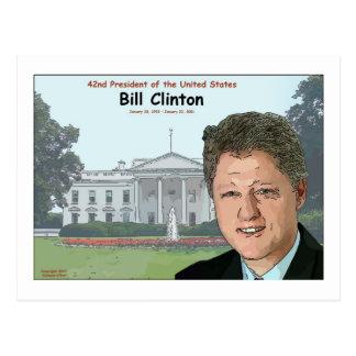 Carte Postale Bande dessinée de Bill Clinton