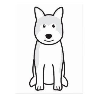Carte Postale Bande dessinée de chien d'Akita