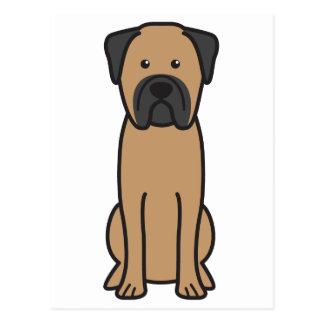 Carte Postale Bande dessinée de chien de Bullmastiff