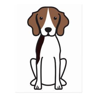 Carte Postale Bande dessinée de chien de Coonhound de marcheur