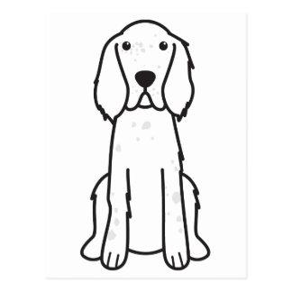 Carte Postale Bande dessinée de chien de poseur anglais