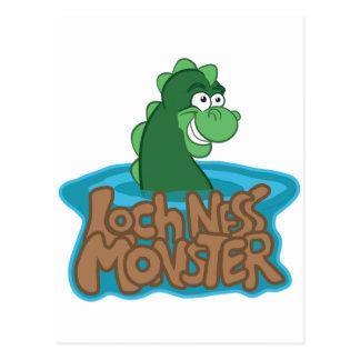 Carte Postale Bande dessinée de monstre de Loch Ness