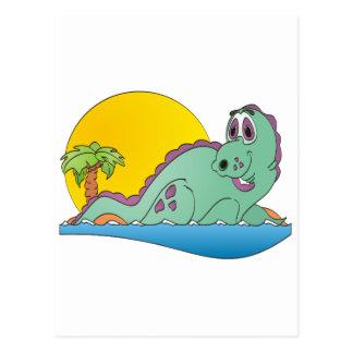 Carte Postale Bande dessinée de Plesiosaurus