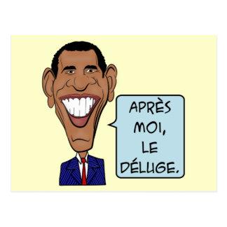 Carte Postale Bande dessinée drôle Barack Obama après moi